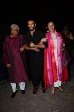 Javed Akhtar, Ranveer Singh, Shabana Azmi at Bajirao Mastani screening in Sunny Super Sound on 17th Dec 2015