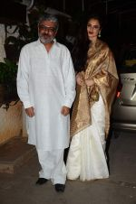 Rekha, Sanjay Leela Bhansali at Bajirao Mastani screening in Sunny Super Sound on 17th Dec 2015