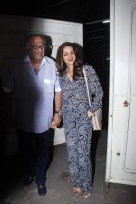 Sridevi, Boney Kapoor at Bajirao Mastani screening in Sunny Super Sound on 17th Dec 2015