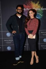 Elli Avram, Andy at Volkswagen car launch on 19th Dec 2015
