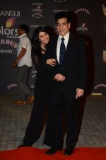 Ekta Kapoor, Jeetendra at the red carpet of Stardust awards on 21st Dec 2015