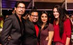 Shawar Ali, Rimi Sen & Marcela Shawar Ali with Fashion Director Shakir Shaikh_s Theme Based Festive Party at Opa! Bar Cafe_567e6f8b7afff.jpg