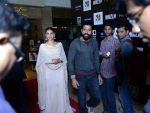 Aditi Rao Hydari, Farhan Akhtar at Wazir screening in Delhi on 5th Jan 2016