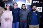 Aditi Rao Hydari, Vidhu Vinod Chopra, Farhan Akhtar, Bejoy Nambiar at Wazir screening in Delhi on 5th Jan 2016