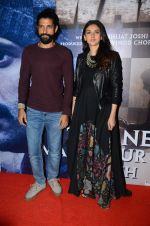 Aditi Rao Hydari, Farhan Akhtar at Wazir screening in Mumbai on 6th Jan 2016