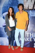 Chunky Pandey at Wazir screening in Mumbai on 6th Jan 2016