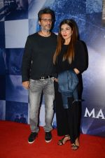 Raveena Tandon, Anil Thadani at Wazir screening in Mumbai on 6th Jan 2016