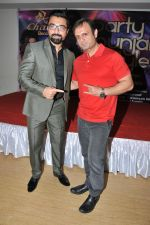 Ajaz Khan with DJ Sheizwood Ashish at the launch of the single Party Punjabi Style on 7th Jan 2016_568f5cd7de310.JPG