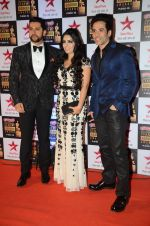 Aftab Shivdasani, Tusshar Kapoor at Star Screen Awards Red Carpet on 8th Jan 2016 (122)_56935cfddf0a6.JPG