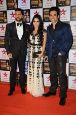 Aftab Shivdasani, Tusshar Kapoor at Star Screen Awards Red Carpet on 8th Jan 2016 (124)_56935cfebcd35.JPG
