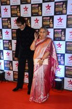 Amitabh Bachchan, Jaya Bachchan at Star Screen Awards Red Carpet on 8th Jan 2016 (372)_56935d355dbb6.JPG