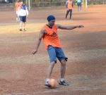 Dino Morea snapped at soccer practise on 10th Jan 2016