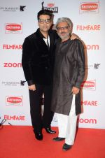 Karan Johar, Sanjay Leela Bhansali at Filmfare Nominations red carpet on 9th Jan 2016