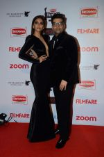 Sonam Kapoor, Karan Johar at Filmfare Nominations red carpet on 9th Jan 2016