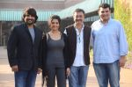 Rajkumar Hirani, Ritika Singh, R Madhavan, Siddharth Roy Kapur at Saala Khadoos film launch on 11th Jan 2016