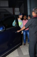 Varun Dhawan snapped outside his father