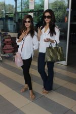 Riya Sen, Raima Sen snapped at Airport on 13th Jan 2016