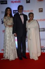Shweta Nanda, Amitabh Bachchan, Jaya Bachchan at Filmfare Awards 2016 on 15th Jan 2016 (677)_569b44b6b8770.JPG