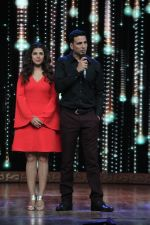 Nimrat Kaur, Akshay Kumar on the sets of Zee TV India