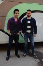 Aftab Shivdasani, Tusshar Kapoor at Kyaa Kool Hain Hum 3 on location on 18th Jan 2016