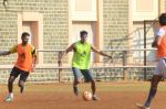 Dino Morea snapped in action at soccer match on 18th Jan 2016