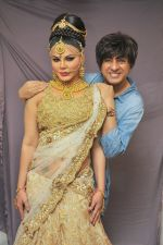 Rohit Verma with Rakhi Sawant at the launch of Rohit Verma