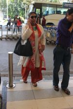 Shabana Azmi snapped at airport  on 27th Jan 2016
