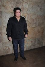 Sajid Khan at Mastizaade screening in Sunny Super Sound on 28th Jan 2016