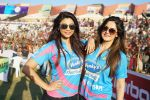 Daisy Shah, Sangeeta Bijlani at Mumbai Heroes Vs Bengal Tigers CCL Match on 30th Jan 2016