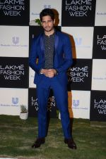 Sidharth Malhotra at Lakme fashion week press meet on 4th Feb 2016