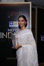 Deepika Padukone at NDTV Indian of the year on 5th Feb 2016
