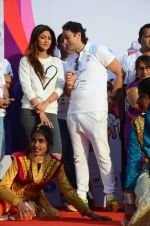 Shilpa Shetty and Ness Wadia at Wadia hospital little hearts marathon on 7th Feb 2016