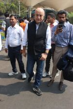 Anupam Kher snapped at airport on 9th Feb 2016