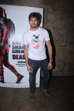 Sidharth Malhotra at Deadpool screening on 9th Feb 2016
