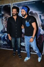 Anil Kapoor, Ayushmann Khurrana at Neerja Screening in Mumbai on 15th Feb 2016