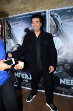 Karan Johar at Neerja Screening in Mumbai on 15th Feb 2016