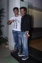 Amit Sadh, manoj Bajpai at Aligargh screening in Mumbai on 16th Feb 2016
