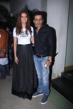 Esha Gupta, Manoj Bajpai at Aligargh screening in Mumbai on 16th Feb 2016