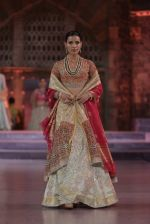 Model walk the ramp for Anju Modi Show at Make in India show at Prince of Wales Musuem with latest Bridal Couture in Mumbai on 17th Feb 2016