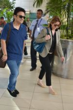 Adnan Sami snapped at airport in Mumbai on 18th Feb 2016