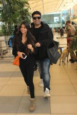 Karan Johar snapped at airport in Mumbai on 18th Feb 2016