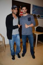 Prateik Babbar, Sooraj Pancholi at Aligargh screening in Mumbai on 18th Feb 2016