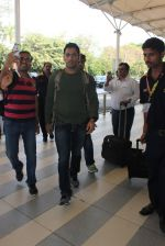Mahendra Singh Dhoni snapped at airport in Mumbai on 19th Feb 2016