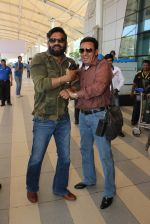 Sunil Shetty, Gulshan Grover snapped at Airport on 20th Feb 2016