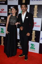 Sushant Singh Rajput, Ankita Lokhande at zee cine awards 2016 on 20th Feb 2016