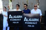 Manoj Bajpai,Rajkummar Rao, Hansal Mehta, Neha at Aligarh promotions at Juhu circle on 23rd Feb 2016 (34)_56cd634488a8f.JPG