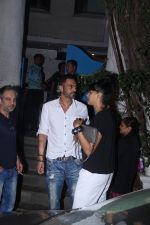 Arjun Rampal snapped with models from his ramp days at Olive in Bandra on 26th Feb 2016