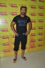 John Abraham at radio mirchi studio in Mumbai on 26th Feb 2016