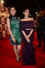 Dia Mirza, Aditi Rao Hydari at radio mirchi awards red carpet in Mumbai on 29th Feb 2016