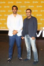Zaheer Khan, Virender Sehwag at VIU streaming launch on 3rd March 2016 (4)_56d9a9d4eff63.JPG